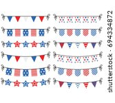 independence day buntings... | Shutterstock .eps vector #694334872
