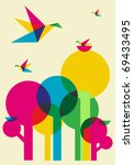 spring time  multicolored... | Shutterstock .eps vector #69433495