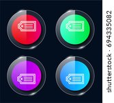 tag four color glass button ui...