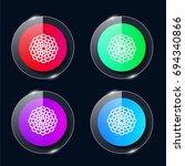 dahlia four color glass button...