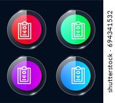padnote four color glass button ...