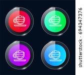 mocha four color glass button...