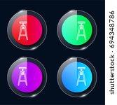 stool four color glass button...