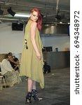 dayah dover posing at moda360... | Shutterstock . vector #694348972