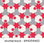 abstract geometric pattern.... | Shutterstock .eps vector #694354402