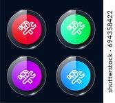 fix four color glass button ui...