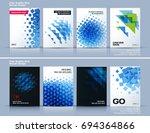 set of business vector template ... | Shutterstock .eps vector #694364866