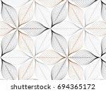 flower pattern vector ... | Shutterstock .eps vector #694365172
