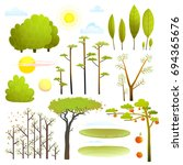 trees nature landscape objects... | Shutterstock . vector #694365676