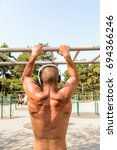 fit man exercising at the park  ... | Shutterstock . vector #694366246