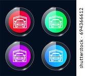 garage four color glass button...