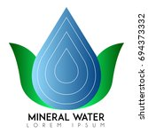 isolated mineral water logo ... | Shutterstock .eps vector #694373332
