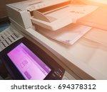 part of multifunction printer... | Shutterstock . vector #694378312