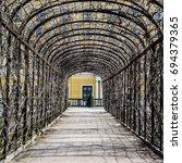 covered walkway  arbor  pergola ... | Shutterstock . vector #694379365