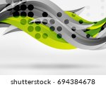vector colorful wave lines in...