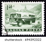 hungary   circa 1963  a stamp... | Shutterstock . vector #694392322