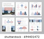 set of red  blue and pink... | Shutterstock .eps vector #694401472