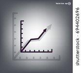 vector growing graph icon | Shutterstock .eps vector #694402696