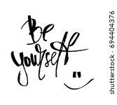 hand drawn vector lettering.... | Shutterstock .eps vector #694404376