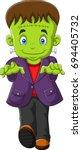 halloween frankenstein character | Shutterstock .eps vector #694405732