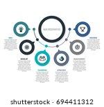 vector timeline infographic... | Shutterstock .eps vector #694411312