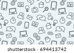 web icons background. vector... | Shutterstock .eps vector #694413742