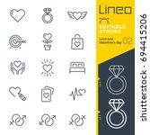 lineo editable stroke   love... | Shutterstock .eps vector #694415206
