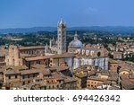 top view of the city of siena ... | Shutterstock . vector #694426342