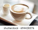 Hot Cappuccino Coffee.