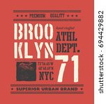 vintage urban typography with... | Shutterstock .eps vector #694429882