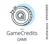 gamecredits cryptocurrency coin ... | Shutterstock .eps vector #694433005