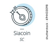 siacoin cryptocurrency coin... | Shutterstock .eps vector #694433098