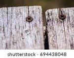 A Macro Close Up Of Screws On...