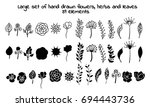 a large vector set of hand... | Shutterstock .eps vector #694443736