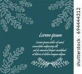 vintage delicate invitation... | Shutterstock .eps vector #694444312