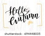 hello autumn vector... | Shutterstock .eps vector #694448035