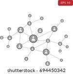social network concept | Shutterstock .eps vector #694450342