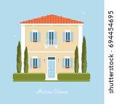 traditional italian house.... | Shutterstock .eps vector #694454695