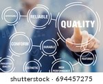 quality management in business... | Shutterstock . vector #694457275