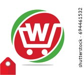logo icon for shopping business ... | Shutterstock .eps vector #694461532