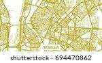 detailed vector map of sevilla... | Shutterstock .eps vector #694470862