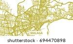 detailed vector map of malaga... | Shutterstock .eps vector #694470898