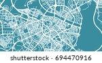 detailed vector map of zaragoza ... | Shutterstock .eps vector #694470916