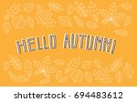 card  banner or poster flat... | Shutterstock .eps vector #694483612