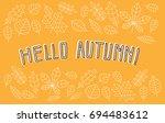 card  banner or poster flat... | Shutterstock .eps vector #694483612