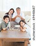 portrait of a little family in... | Shutterstock . vector #69448687