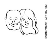 figure avatar couple head with... | Shutterstock .eps vector #694487782