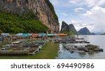 fish farms in phang nga bay | Shutterstock . vector #694490986