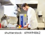 cooking food  profession and... | Shutterstock . vector #694494862