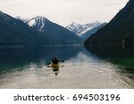 lake with reflection of... | Shutterstock . vector #694503196